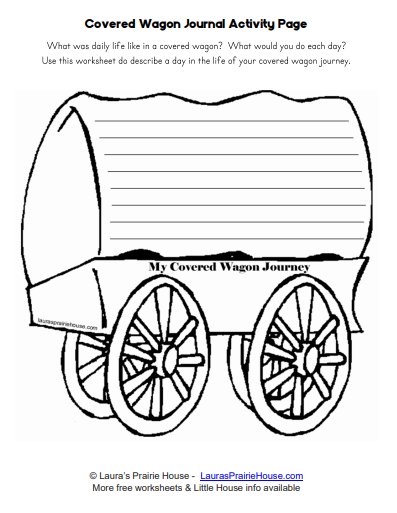 Covered Wagon Journal Activity Page