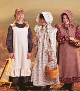 Little House on the Prairie Sewing Costume Pattern for Girls