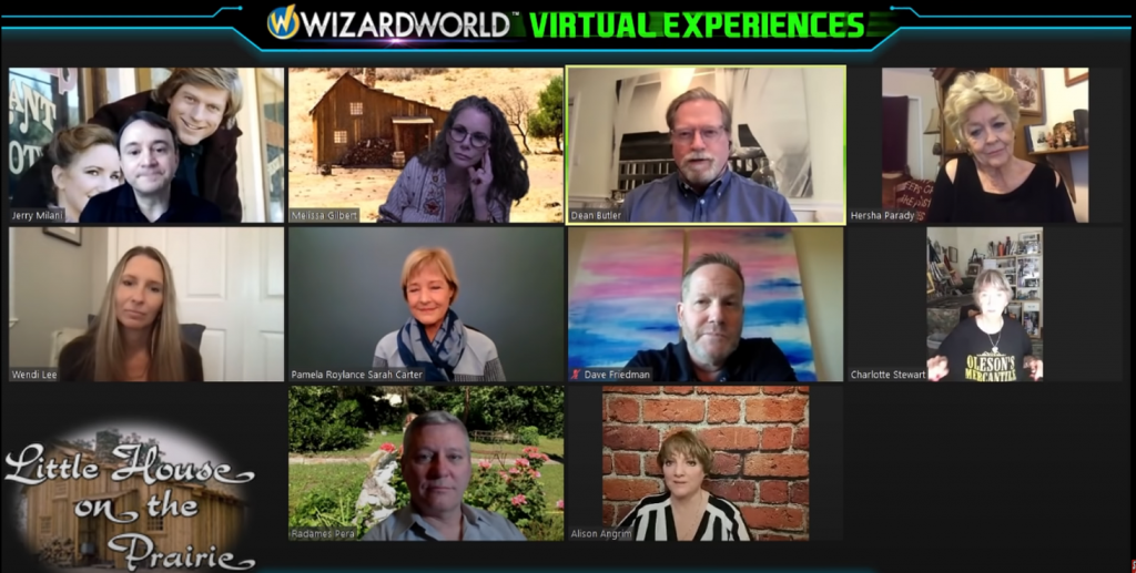 Virtual Little House on the Prairie Panel 2021 at Wizard World Event