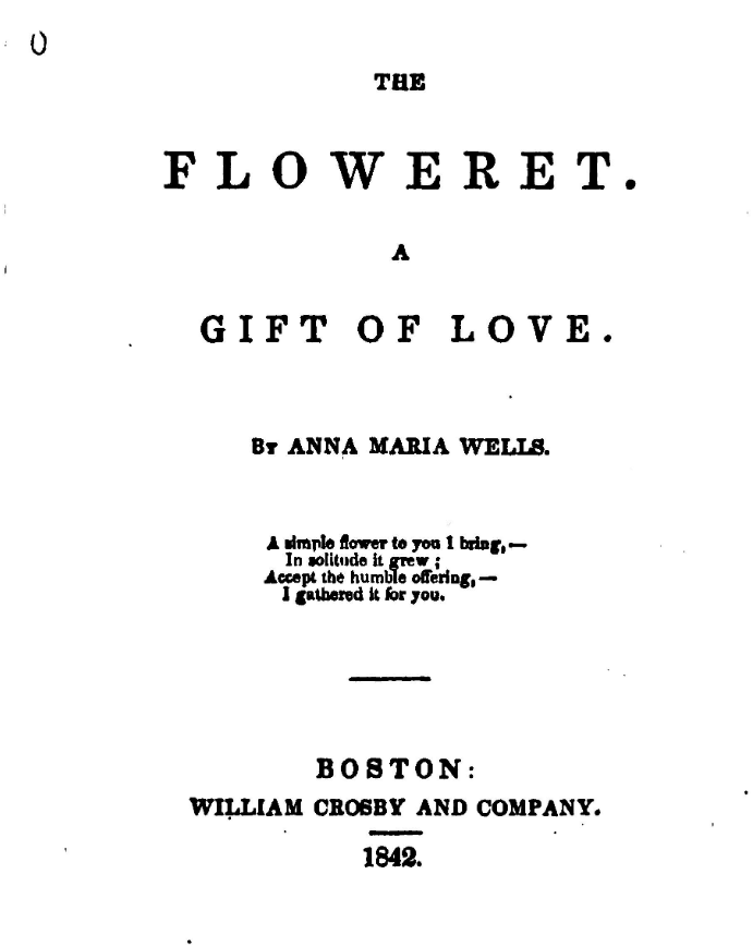 The Floweret Book of Verses in Pioneer Girl by Laura Ingalls Wilder