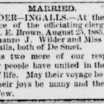 Laura Ingalls & Almanzo Wilder Marriage Announcement